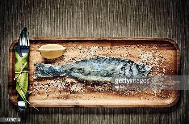 sea bass - dorado fish stock photos and pictures