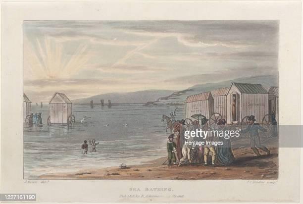 Sea Bathing from Poetical Sketches of Scarborough 1813 Artist Thomas Rowlandson Joseph Constantine Stadler J Bluck