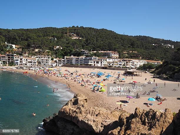 Sea, beach and promenade Sa Riera, Begur