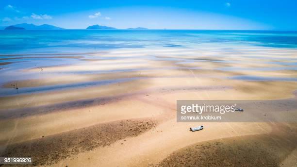 Sea beach when ebb tide around the island