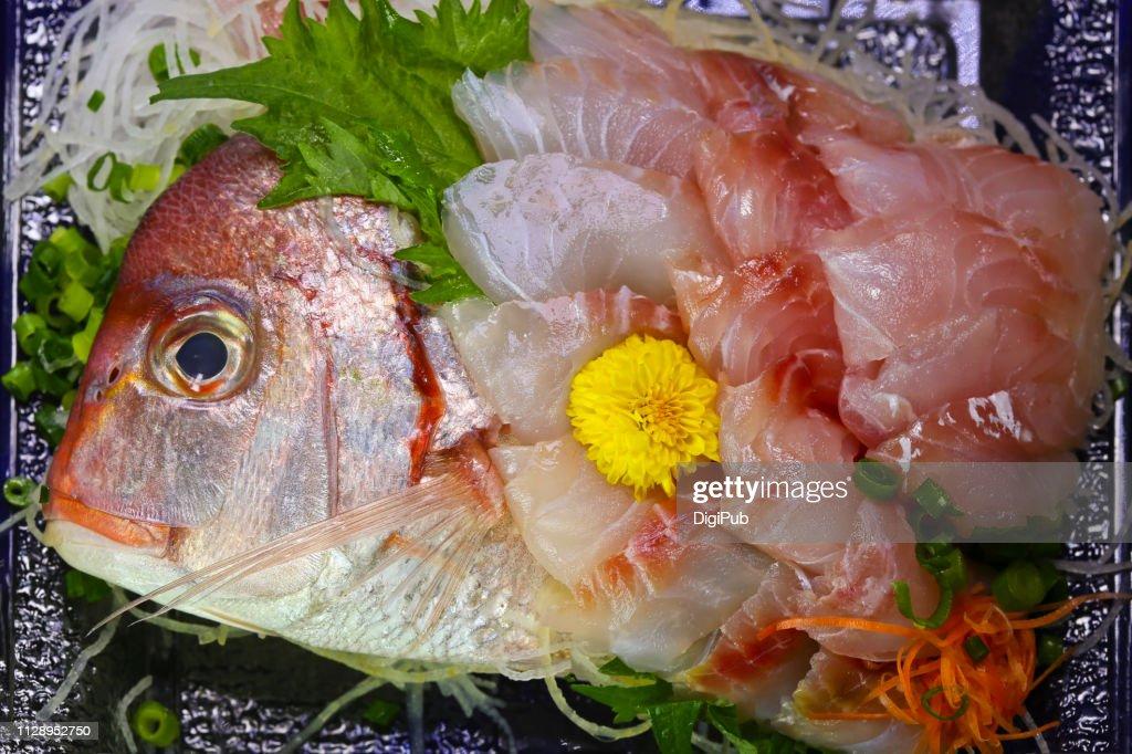 Sea bream sashimi : Foto de stock