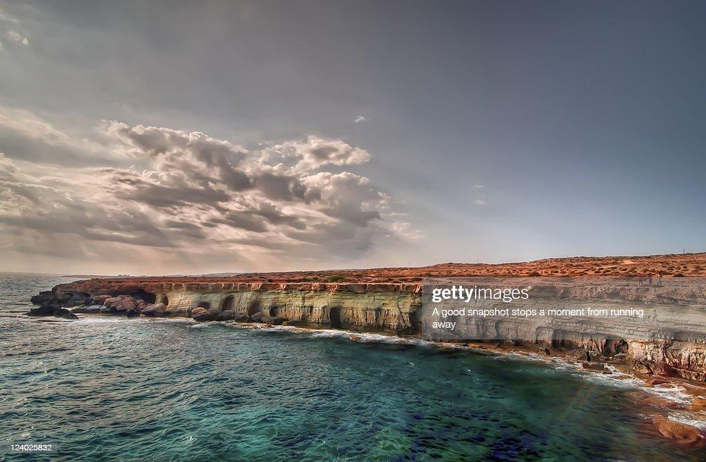 Sea caves : Stock Photo