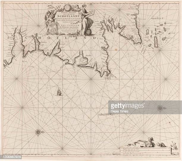 Sea chart of part of north east coast of Scotland and the Orkney Islands Jan Luyken Johannes van Keulen I unknown 16811799