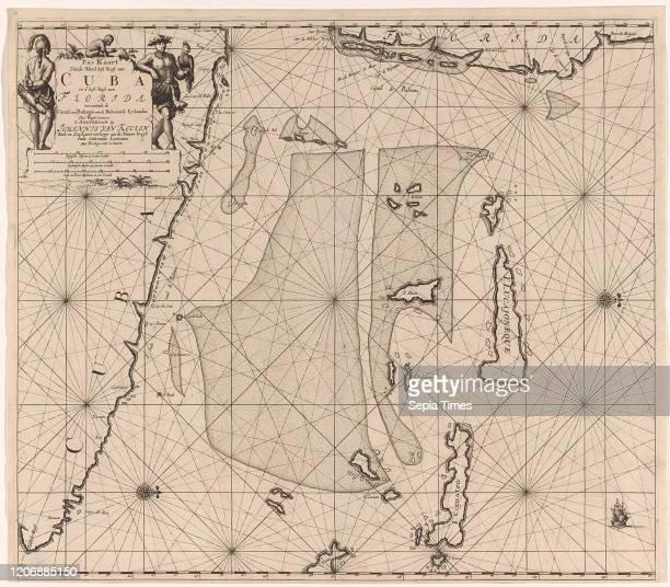 Sea chart of part of southeastern Florida and northeast of Cuba, Jan Luyken, Claes Jansz Voogt, Johannes van Keulen I, 1684-1799.