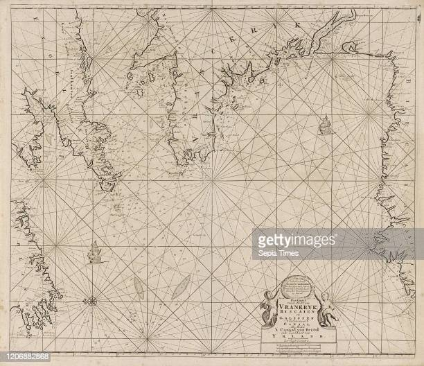 Sea chart of part of the coast of Ireland England France and Spain