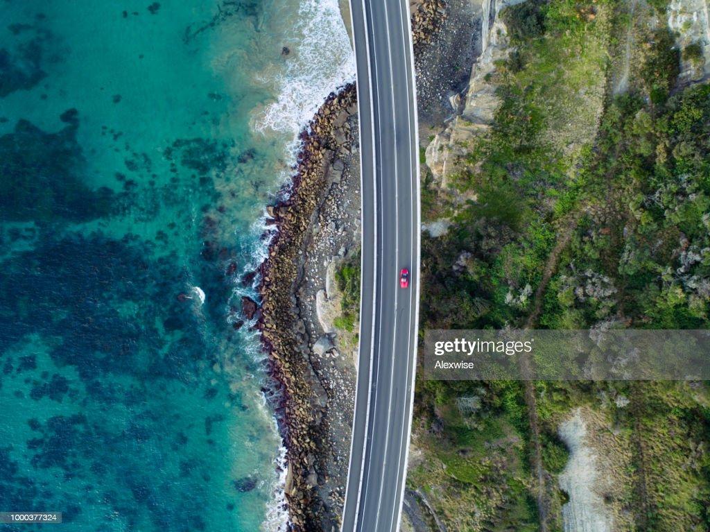 Sea Cliff Bridge Aerial : Stock Photo