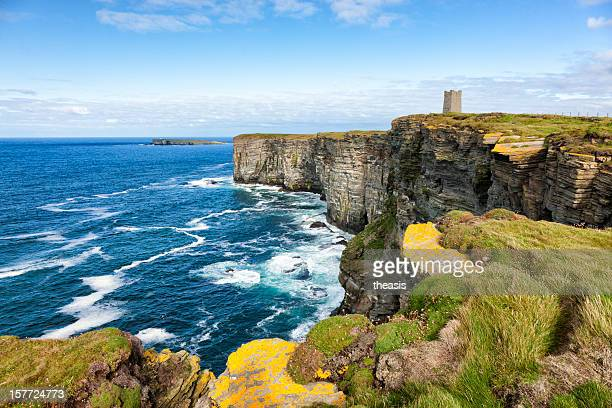 sea cliffs at marwick head, orkney - scotland stock pictures, royalty-free photos & images