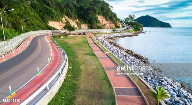 Sea coastal road
