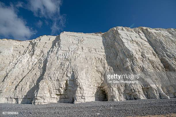 Sea Erosion of Chalk Cliffs, Beachy Head, East Sussex