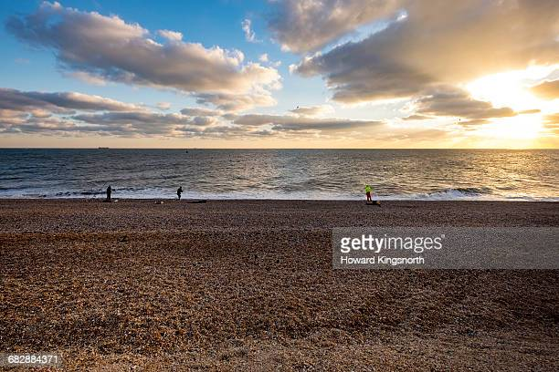 sea fishing on shingle beach - dungeness stock pictures, royalty-free photos & images