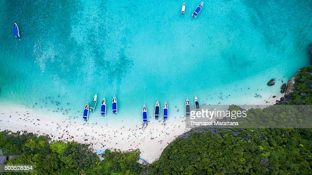 sea from above - phuket province stock pictures, royalty-free photos & images