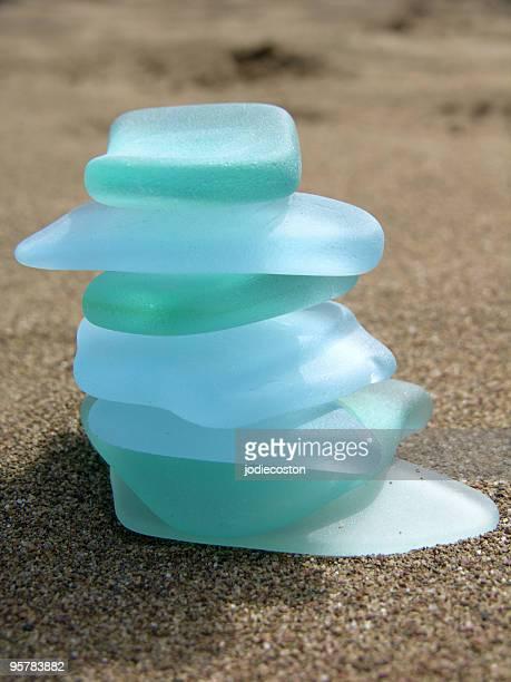 Sea Glass Cairn