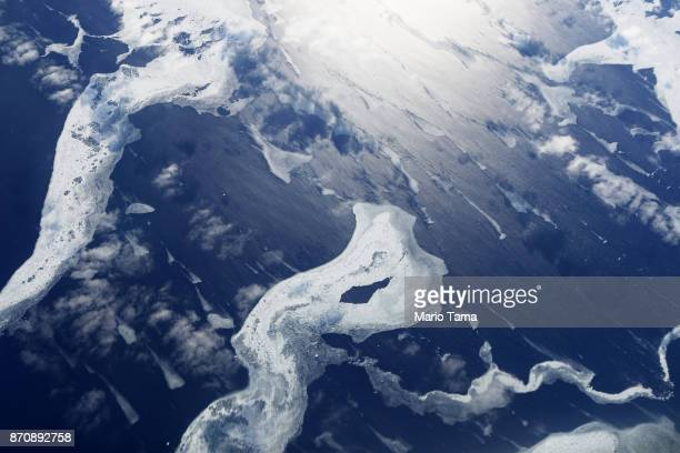 Sea ice as seen from NASA's Operation IceBridge research aircraft in the Antarctic Peninsula region on November 4 above Antarctica NASA's Operation...