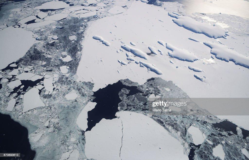 NASA's Operation IceBridge Studies Ice Loss In Antarctica : News Photo