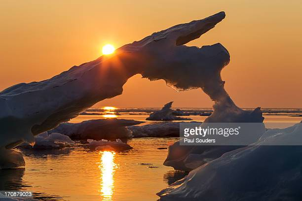 sea ice, hudson bay, canada - hudson bay stock photos and pictures