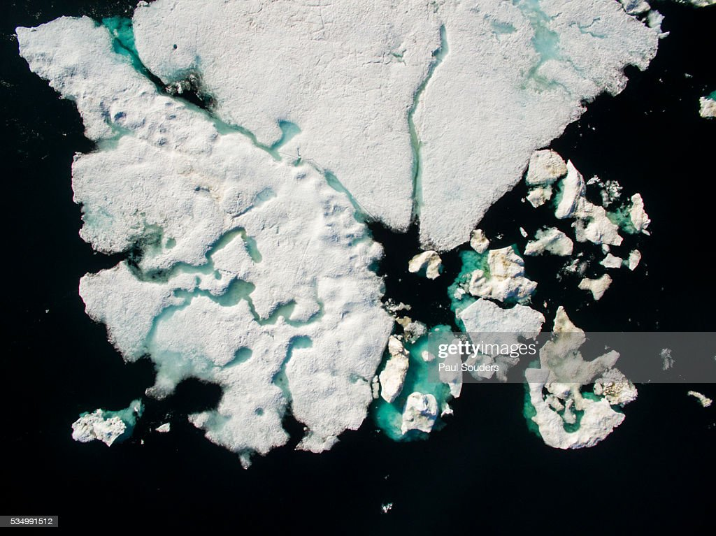 Sea Ice in Wager Bay, Ukkusiksalik National Park, Nunavut, Canada : Stock Photo