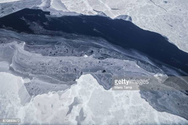 Sea ice is seen from NASA's Operation IceBridge research aircraft in the Antarctic Peninsula region on November 4 above Antarctica NASA's Operation...