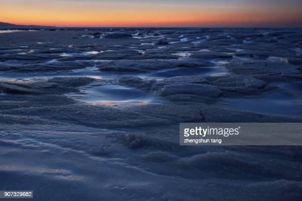 sea ice. - dalian stock photos and pictures