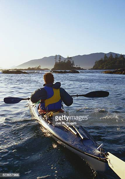 Sea Kayaker in Clayoquot Sound