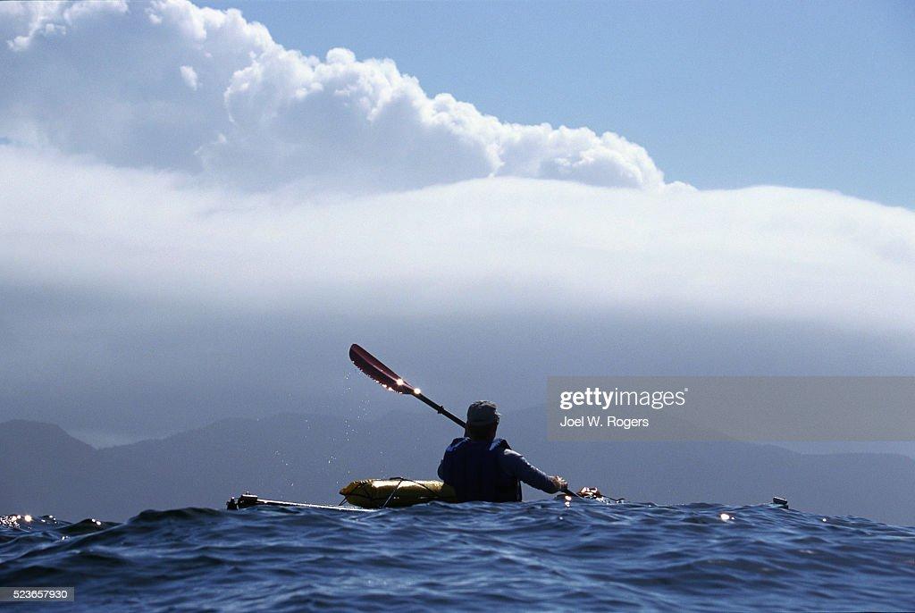 Sea Kayaker near Cape Flattery : Stock Photo
