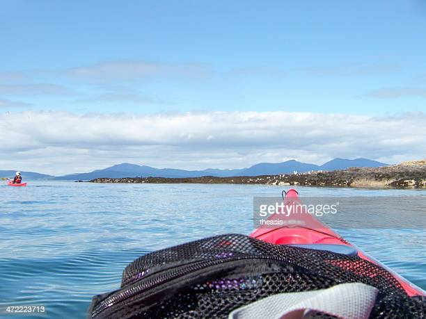 sea kayaking in scotland - theasis stock pictures, royalty-free photos & images