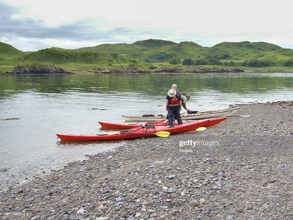 Sea Kayaking in Scotland : Stock Photo