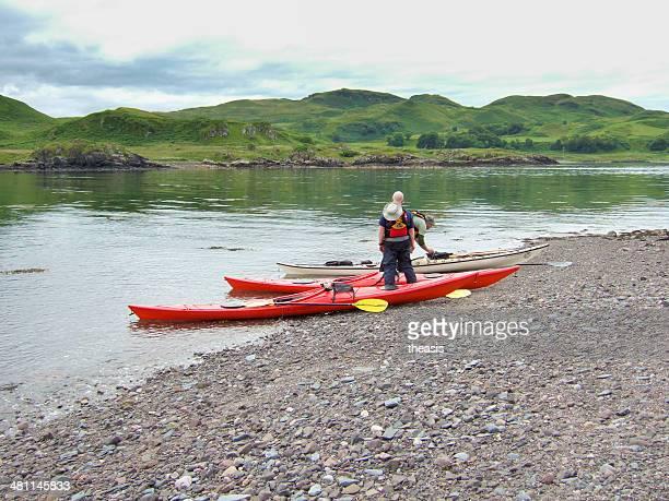 Navegación en kayak en Escocia