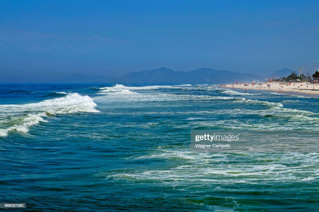 Sea landscape, Barra da Tijuca, Rio : Stock Photo
