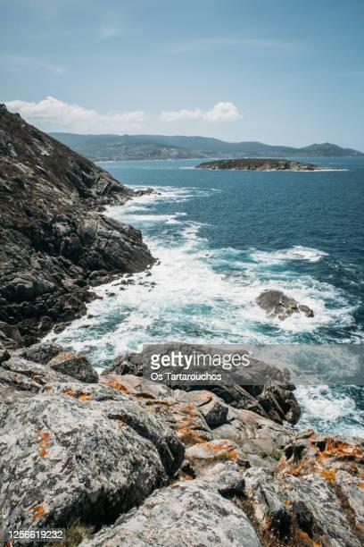 sea landscape in pontevedra - rocky coastline stock pictures, royalty-free photos & images