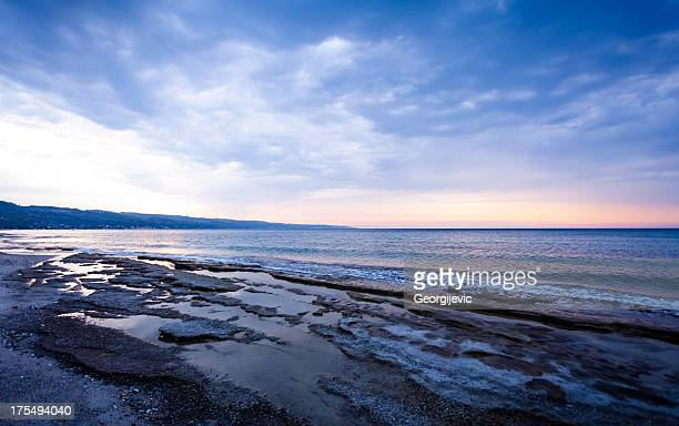 Sea landscape with rocky coast