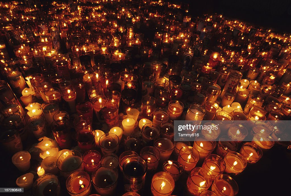 Sea of Candles : Stock Photo