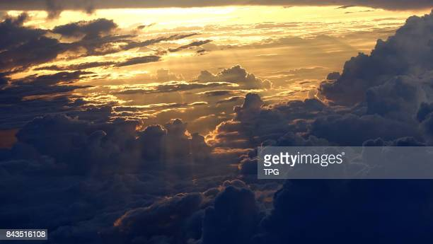 sea of clouds above the air on 07th September 2017 in NanningGuangxiChina