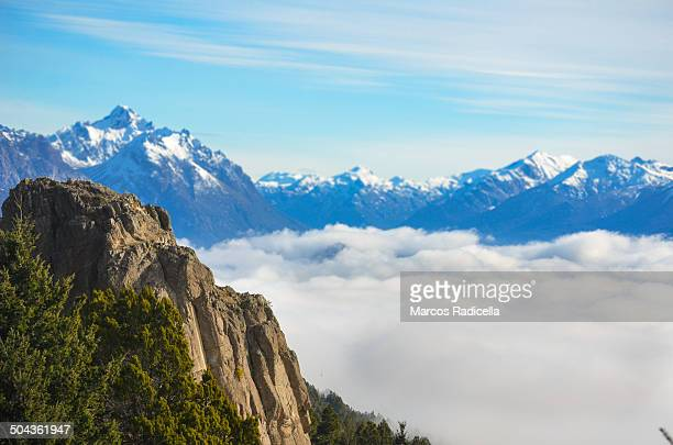 sea of clouds, bariloche patagonia - radicella stock photos and pictures