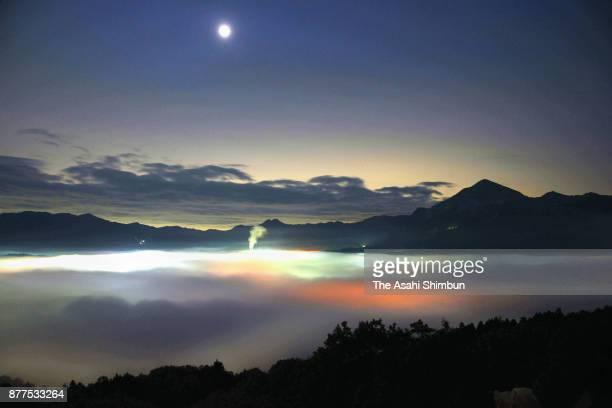 Sea of clouds is observed on November 15 2017 in Chichibu Saitama Japan