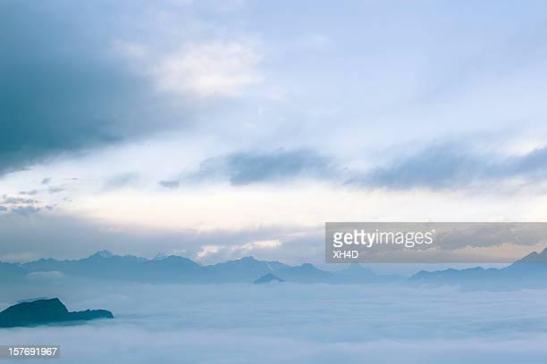 Mar de nuvens paisagens na china