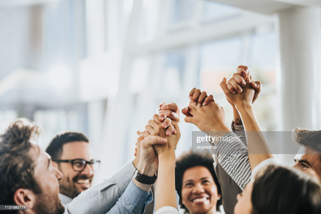 Sea of hands in unity! : Stock Photo