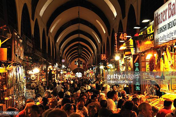 CONTENT] A sea of humanity jammed into an ancient covered bazaar Istanbul Turkey