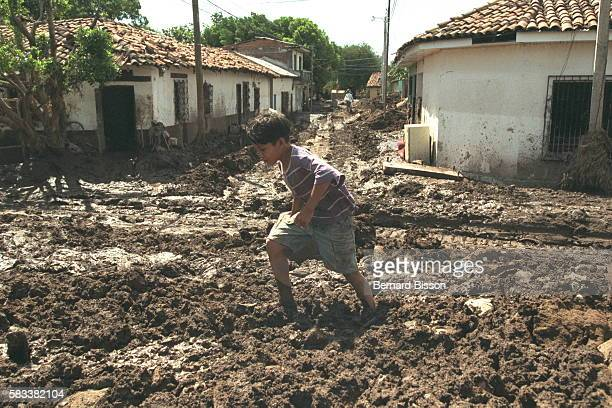 A sea of mud has filled the streets of Choluteca