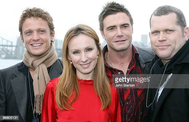 Sea Patrol cast members David Lyons Lisa McCune Jeremy Lindsay Taylor and John Batchelor