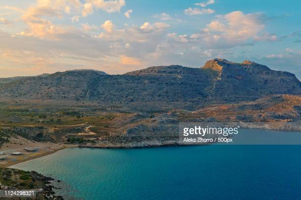 sea - rhodes dodecanese islands stock photos and pictures