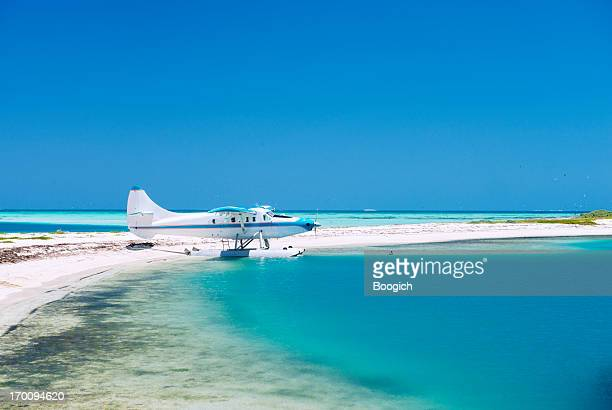 sea plane on a tropical island - florida keys stock pictures, royalty-free photos & images