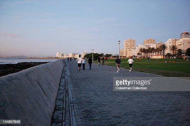 Sea Point Promenade a popular seaside promenade that stretches from Bantry Bay to the VA Waterfront frequented by locals and tourists Cape Town South...