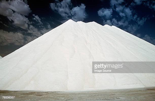 sea salt mountain - walvis bay stock photos and pictures