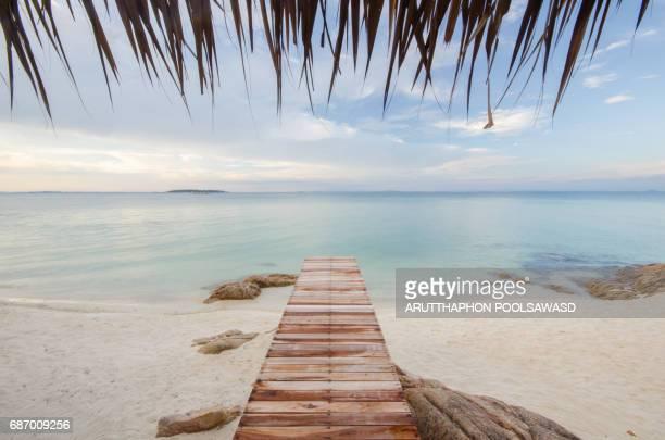 Sea sand sun beach at Phuket Thailand