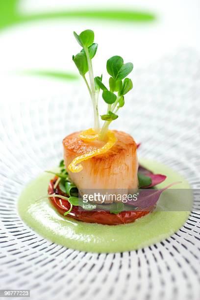 ホタテ貝 - コース料理 ストックフォトと画像