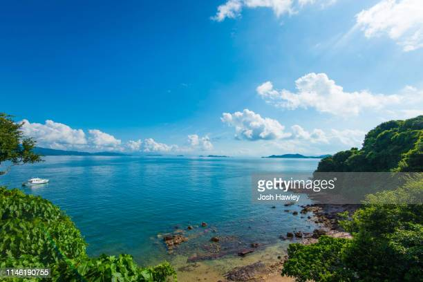 sea scenery - clear sky stock pictures, royalty-free photos & images