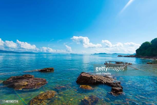 sea scenery - 潟湖 ストックフォトと画像