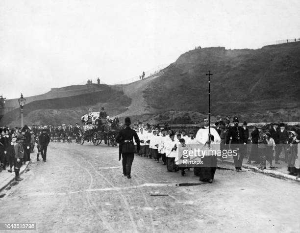 Sea Scouts funeral at Charlton Pictured on the way from the church to the cemetery Two thousand scouts attend the funeral of Scout C H Witt who was...