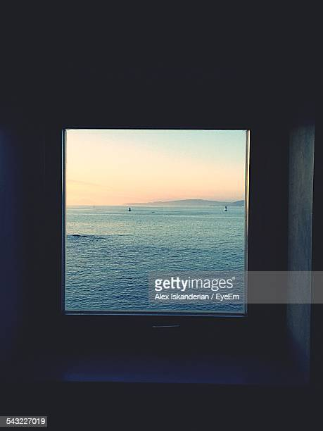 Sea Seen Through Window