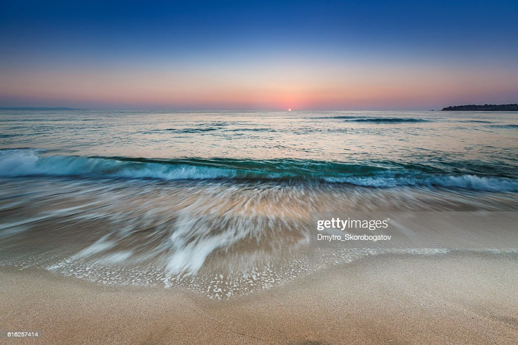 sea shore with a sandy beach : Stock Photo